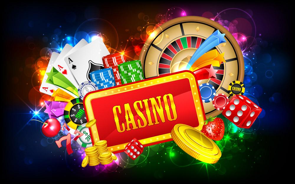 赌场筹码背景素材